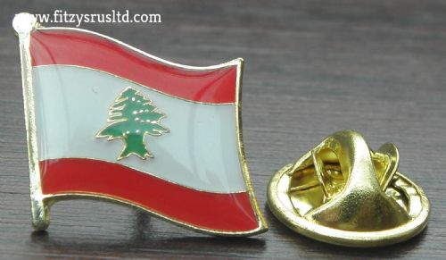 Lebanon Country Flag Lapel Hat Cap Tie Pin Badge Lebanese Brooch